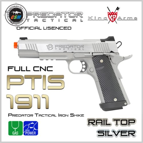 [킹암스] Predator Tactical Iron Shike 1911 Rail Top - SV
